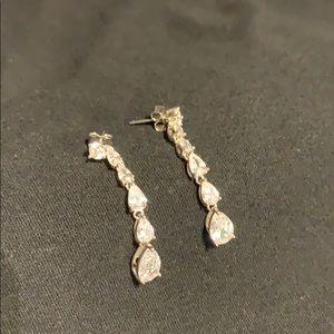 Jewelry - Elizabeth Taylor CZ Costume Earrings